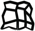 画像1: ★在庫一掃半額以下★【DIY】コンクリートレンガ成型モールド【金型】×2コセット (1)